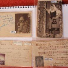 Autógrafos de Música : 4 AUTÓGRAFOS DEDICADOS DE CASAS DE MON, CELIA GAMEZ ,JUANITA REINA, MARIA ESPINAL AÑOS 40,43...... Lote 41702219