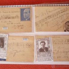 Autógrafos de Música : 4 AUTÓGRAFOS DEDICADOS ANTONI CATALA ,EDUARDO TOLDRA A.PEREZ MOYA, AÑOS 40 ,41 Y OTRO. Lote 41702303