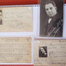 Autógrafos de Música : 4 AUTÓGRAFOS DEDICADOS DE MERCE PLANTADA ,FRANCESC PUJOL, FRANY JOHAN, Y OTRO AÑOS 40,43,70. Lote 41702605
