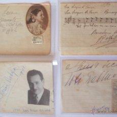 Autógrafos de Música : 4 AUTÓGRAFOS DEDICADOS DE MATILDE VAZQUEZ, R.MARTINEZ VALLS, TOTI DEL MONTE Y OTROS 2 AÑOS 41,42 ... Lote 41720673