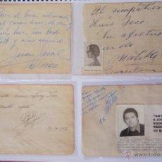 Autógrafos de Música : 4 AUTÓGRAFOS DEDICADOS DE JUAN GUAL, MATILDE MARTINEZ, RADIO JUVENTUD ANTENA DE ORO Y OTRO AÑOS 37... Lote 41720887