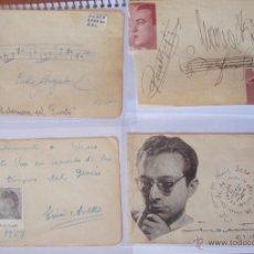 Autógrafos de Música : 4 AUTÓGRAFOS DEDICADOS DE PABLO LORAZABAL, TRINI AVELLÍ Y OTROS AÑOS 40,59,69.... Lote 41720947