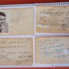 Autógrafos de Música : 3 AUTÓGRAFOS DEDICADOS DE VICENTE SARDINERO, RAIMUN TORRES,V.MARIANO AÑOS 40,64,73,. Lote 41702813
