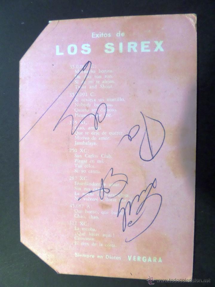 Autógrafos de Música : Postal de Los Sirex con autografos en el reverso. Ver fotografia y comentarios - Foto 2 - 42507407