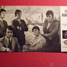 Autógrafos de Música : AUTOGRAFO - LOS ROBERTS - DE ERNESTO TEGLEN TORRES - SOBRE POSTAL REGAL EMI -. Lote 43130657
