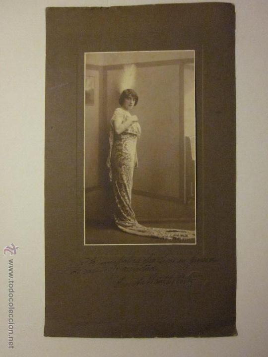 FOTOGRAFIA Y AUTOGRAFO - EMITA WACHTER ORTIZ - VER TAMAÑO - (F-715) (Música - Autógrafos de Cantantes )