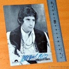 Autógrafos de Música : MIGUEL RÍOS - AUTÓGRAFO - ANTIGUA POSTAL PROMOCIONAL ALEMANA - AUTOGRAFIADA - POLYDOR ALEMANIA. Lote 44014202