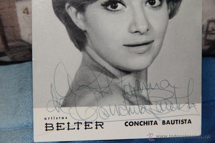 Autógrafos de Música : CONCHITA BAUTISTA, DISCOS BELTER AÑOS 60., CON AUTOGRAFO Y FIRMA ORIGINAL -docc- - Foto 2 - 46627680