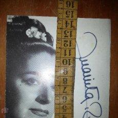 Autógrafos de Música : JUANITA REINA FOTO POSTAL ORIGINAL CON AUTOGRAFO DE LA ARTISTA , ORIGINAL . Lote 71814223