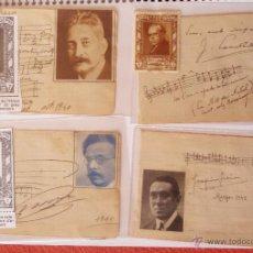 Autógrafos de Música : 4 AUTÓGRAFOS DEDICADOS DE JOAQUIN GURINA, MOTE DE GRIGNON,LLUIS MILLET, ENRIC MORERA AÑOS 40,42. Lote 47399985