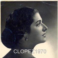 Autographes de Musique : FOTO JUANITA REINA CON AUTOGRAFO ORIGINAL, FOTO HARETON SEVILLA. 11.5 X 17. Lote 48653898