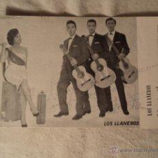 Autógrafos de Música : ANTIGUA FOTOGRAFIA AUTOGRAFO GRUPO MUSICA MUSICAL LOS LLANEROS ORIGINAL DE LOS AÑOS 50/60 ELCHE. Lote 55121219
