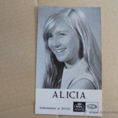 Autógrafos de Música : FOTOGRAFIA PUBLICIDAD REGAL EMI / ALICIA - CON AUTOGRAFO - 1964 - ENVIO GRATIS. Lote 51235938