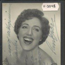Autógrafos de Música: MARY SANTPERE - AUTOGRAFO - FOTO DE CANTANTE - MIDE 8 X 13 CM - VER REVERSO - (V-3048). Lote 51563737