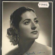 Autógrafos de Música : JUANITA REINA - AUTOGRAFO - FOTO DE CANTANTE - MIDE 11 X 17 CM - VER REVERSO - (V-3052). Lote 51563976