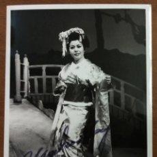 Autógrafos de Música : TEATRO ALLA SCALA. YASHUKO HAYASHI IN 'MADAMA BUTTERFLY'. CON AUTÓGRAFO ORIGINAL.. Lote 53513303