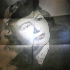 Autógrafos de Música : AUTÓGRAFO - VEDETTE ESPAÑOLA - VIRGINIA DE MATOS - EN PERODICO AÑOS 50. Lote 57450962