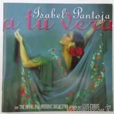 Autógrafos de Música : ISABEL PANTOJA CON AUTÓGRAFO, CD DE COPLAS A TU VERA AUTÓGRAFO QUE DICE MI CARIÑO, ISABEL PANTOJA. Lote 57937630