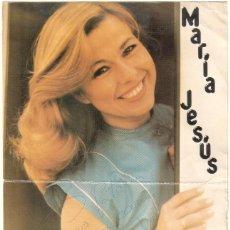 Autógrafos de Música : CALENDARIO DE MARÍA JESÚS CON DEDICATORIA AUTÓGRAFA. 1983. Lote 58227329