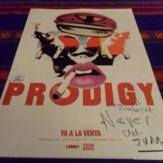 Autógrafos de Música : CARTEL THE PRODIGY AÑO 2004 CON AUTÓGRAFO Y DEDICATORIA. 43X30 CMS.. Lote 58608366