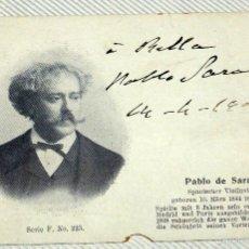 Autografi di Musica : COLECCIÓN 102 POSTALES AUTÓGRAFOS MÚSICOS COMPOSITORES PP XX SARASATE BRETÓN MASSENET ESTRADÉ PACINI. Lote 59765204