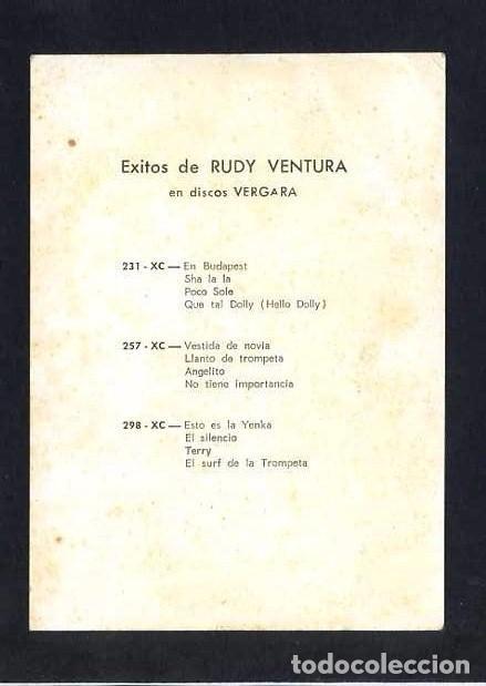 Autógrafos de Música : Autógrafo *Rudy Ventura* Impreso *Discos Vergara* 99x137 mms. - Foto 2 - 61758136