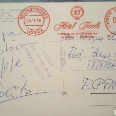 Autógrafos de Música: POSTAL ESCRITA POR JULIO IGLESIAS EN EL 1969 A ENRIQUE MARTIN GAREA(SU DESCUBRIDOR) DESDE LISBOA. Lote 61945343