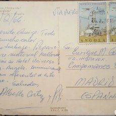 Autógrafos de Música : POSTAL DE ALBERTO CORTEZ (CANTANTE) DESDE ANGOLA A E.GAREA(HISPAVOX) PRODUCTOR Y DESCUBRIDOR 1966. Lote 61945539