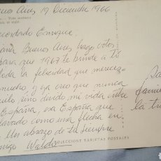 Autógrafos de Música : POSTAL ESCRITA POR WALDO DE LOS RIOS DESDE ARGENTINA(1966) A ENRIQUE GAREA DESCUBRIDOR DE ARTISTAS. Lote 61945659
