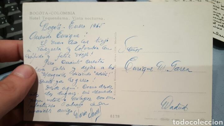POSTAL DE MARIO CLAVELL DESDE BOGOTÁ A ENRIQUE GAREA (DESCUBRIDOR DE ARTISTAS) 1965 (Música - Autógrafos de Cantantes )