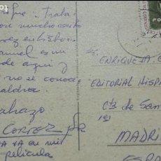 Autógrafos de Música : POSTAL DESDE LISBOA DE ALBERTO CORTEZ CANTANTE A ENRIQUE GAREA HISPAVOX DESCUBRIDOR DE ARTISTAS 1965. Lote 62220928