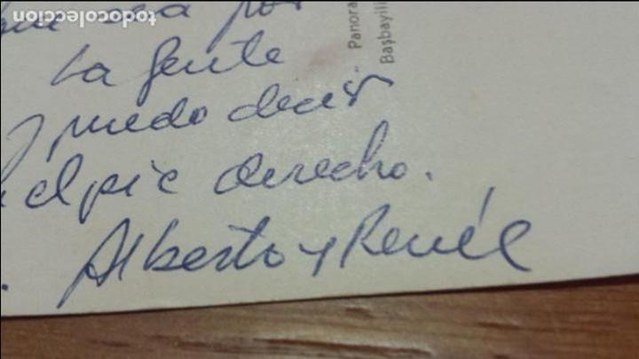 Autógrafos de Música : Postal de Alberto Cortez (cantante) ESTAMBUL a Enrique Garea Hispavox descubridor de artistas 1965 - Foto 2 - 62221472