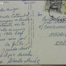 Autógrafos de Música : POSTAL DE ALBERTO CORTEZ (CANTANTE) ESTAMBUL A ENRIQUE GAREA HISPAVOX DESCUBRIDOR DE ARTISTAS 1965. Lote 62221472