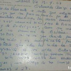 Autógrafos de Música : POSTAL DE RICARDO CERATTO (LETRISTA) DESDE SANTA FE A ENRIQUE GAREA (DESCUBRIDOR DE ARTISTAS) 1967. Lote 62223788
