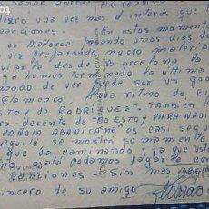 Autógrafos de Música : POSTAL DE RICARDO CERATTO( LETRISTA) DESDE MALLORCA A ENRIQUE GAREA (DESCUBRIDOR DE ARTISTAS) 1965. Lote 62270092