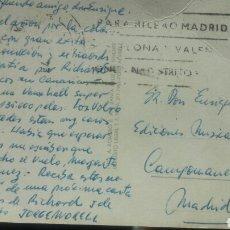 Autógrafos de Música : TARJETA DESDE MALLORCA DE JORGE MORELL (LETRISTA) A ENRIQUE GAREA (DESCUBRIDOR DE ARTISTAS) 1966. Lote 62369187