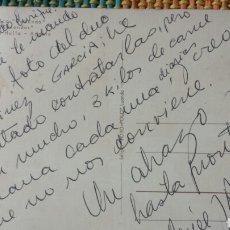 Autógrafos de Música : POSTAL DE ALBERTO CORTEZ (CANTANTE) DESDE ANGOLA A GAREA (HISPAVOX) PRODUCTOR Y DESCUBRIDOR AÑO 66. Lote 62517158