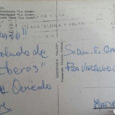 Autógrafos de Música : POSTAL DESDE OVIEDO DE QUIQUE (ENRIQUE LOZANO, CANTANTE LOS IBEROS) A E.GAREA (COLUMBIA) 1970. Lote 62521419