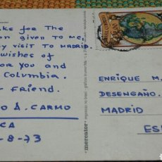 Autógrafos de Música : POSTAL DESDE SAO PAULO DE HELCIO D. CARMO ( RCA- RADIO CORPORATION OF AMERICA) A E. GAREA (COLUMBIA). Lote 62556983