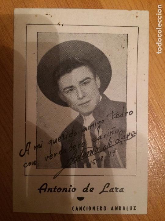 ANTONIO DE LARA - AUTOGRAFO (Música - Autógrafos de Cantantes )