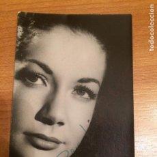 Autografi di Musica : ACTRIZ O CANTANTE SIN IDENTIFICAR - AUTOGRAFO. Lote 82100828