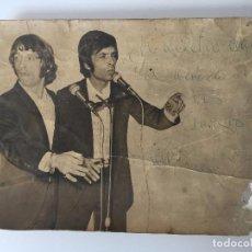 Autógrafos de Música : FOTOGRAFÍA ANTIGUA DE LOS HERMANOS CALATRAVA (DEDICATORIA) . Lote 86637060