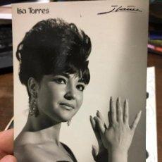 Autografi di Musica : POSTAL CON AUTOGRAFO DE ISA TORRES. Lote 87567504