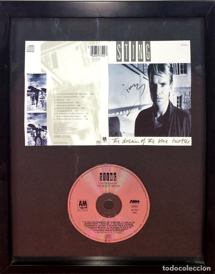 STING. AUTÓGRAFO EN CARÁTULA DE CD. THE DREAM OF BLUE TOURTLES. U.S.A.(?) CIRCA 1985 (Música - Autógrafos de Cantantes )