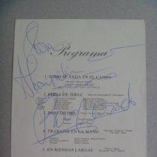 Autógrafos de Música : AUTOGRAFO ORIGINAL DE ROCIO JURADO . EN UN FOLLETO DE LA ESCUELA ANDALUZA DE ARTE ECUESTRE. Lote 97930891