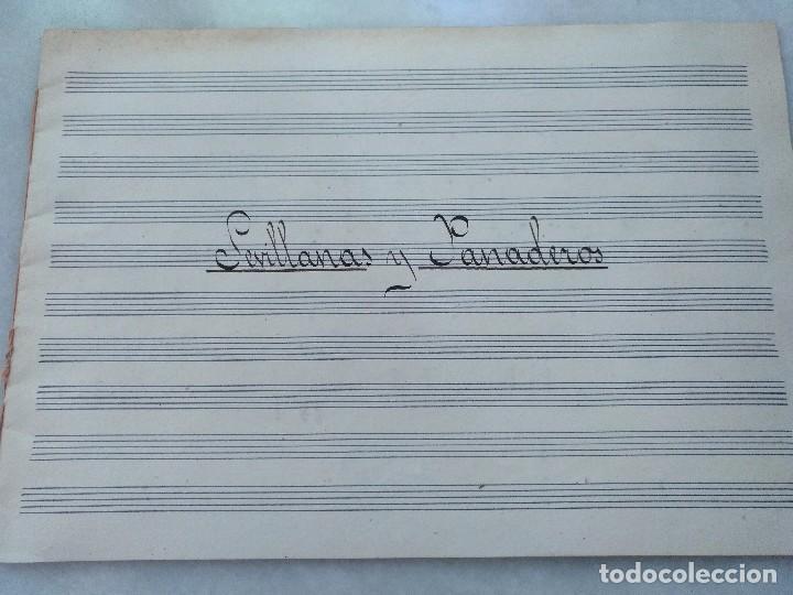 ANTIGUAS PARTITURAS MANUSCRITAS DE SEVILLANAS Y PANADEROS. COMPUESTAS POR EDUARDO FUENTES . (Música - Autógrafos de Cantantes )