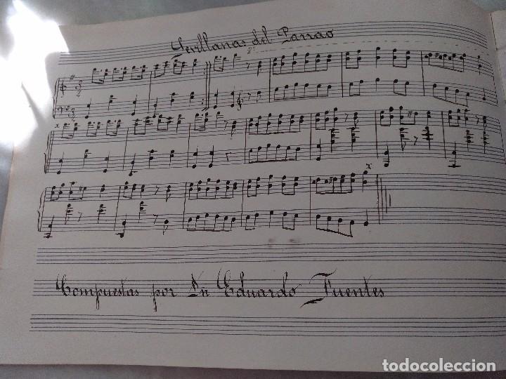 Autógrafos de Música : ANTIGUAS PARTITURAS MANUSCRITAS DE SEVILLANAS Y PANADEROS. COMPUESTAS POR EDUARDO FUENTES . - Foto 3 - 99726575