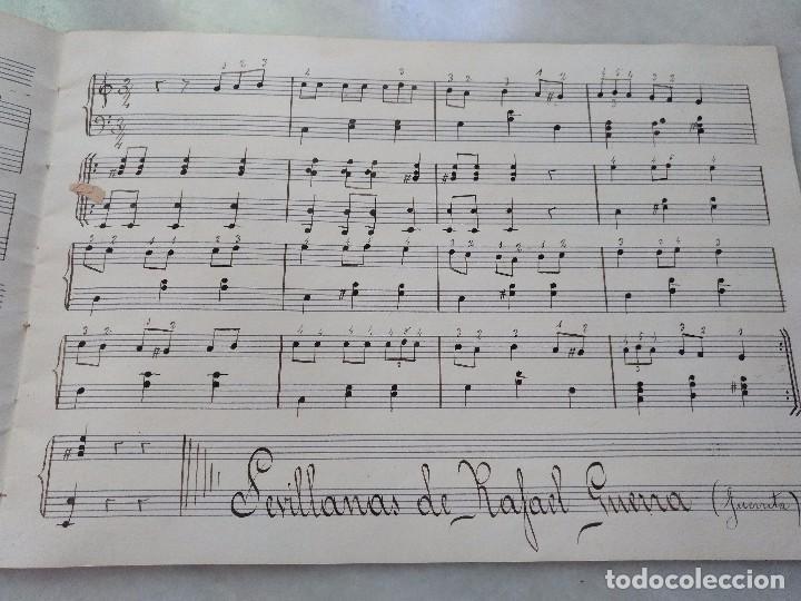 Autógrafos de Música : ANTIGUAS PARTITURAS MANUSCRITAS DE SEVILLANAS Y PANADEROS. COMPUESTAS POR EDUARDO FUENTES . - Foto 4 - 99726575