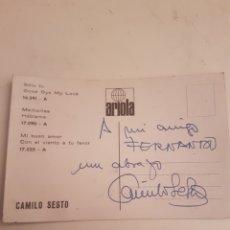 Autógrafos de Música : AUTOGRAFO CAMILO SESTO ANTIGUO. Lote 103787724