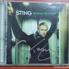 Autógrafos de Música : COMPACT DISC-CD FIRMADO A MANO POR STING, BRAND NEW DAY EN EL AÑO 1999 POR A&M RECORDS. Lote 106087515